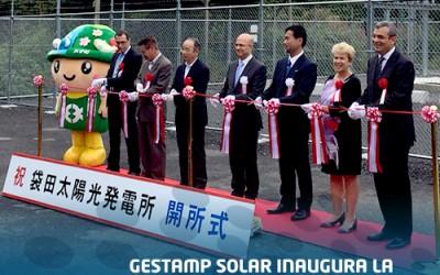 Gestamp Solar opens its new plant in Fukuroda, Japan