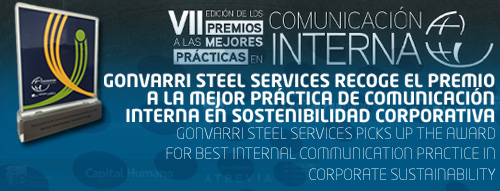 Gonvarri Steel Services gathers the award for the Best Practice in Internal Communications on Corporate Sustainability