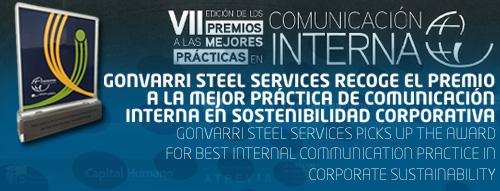 Gonvarri Steel Services recoge el premio a la Mejor Práctica de Comunicación Interna en Sostenibilidad Corporativa