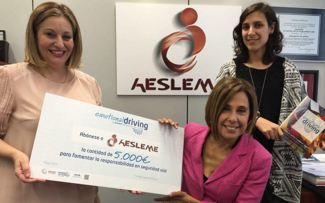 AESLEME recibe 5.000 Euros tras un reto colectivo con los empleados de Gonvarri